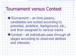 tournament versus contest