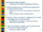 sourcing from china and india businesss case studies preliminary evidence