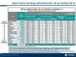 bajos ndices de riesgo diversificaci n de las carteras sb 4