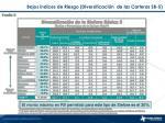bajos ndices de riesgo diversificaci n de las carteras sb 5