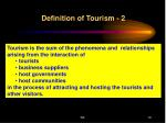definition of tourism 2