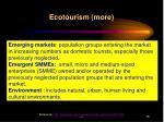 ecotourism more