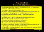 key objectives economic objectives