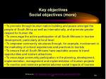 key objectives social objectives more