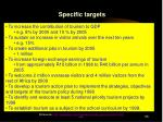specific targets