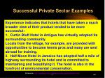 successful private sector examples
