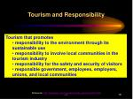 tourism and responsibility