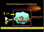 tourism experience vs business