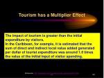 tourism has a multiplier effect