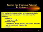tourism has enormous potential for linkages