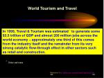 world tourism and travel