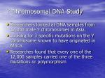 y chromosomal dna study
