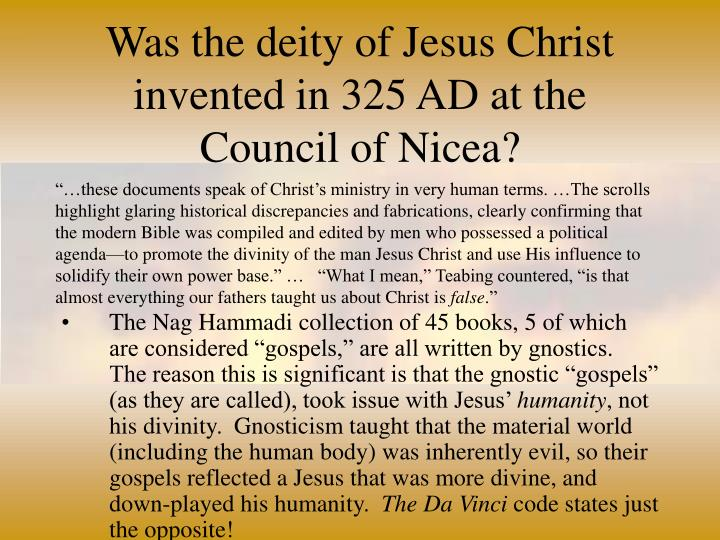 "an analysis of the council of nicea Cholesterol, statins, and the council of nicaea to achieve this he convened the ecumenical council of nicaea in ""analysis of the relationship in woscops."