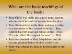 what are the basic teachings of the book