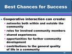 best chances for success51