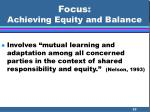 focus achieving equity and balance55