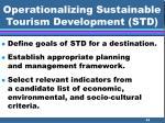 operationalizing sustainable tourism development std