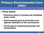 primary environmental care pec57