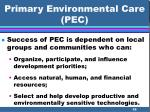primary environmental care pec58