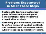 problems encountered in all of these steps