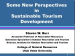 some new perspectives in sustainable tourism development