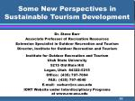 some new perspectives in sustainable tourism development52