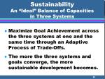 sustainability an ideal balance of capacities in three systems21