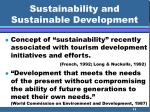 sustainability and sustainable development