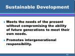 sustainable development13