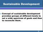 sustainable development28