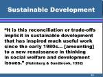 sustainable development29