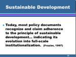 sustainable development35