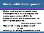 sustainable development36