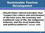 sustainable tourism development16