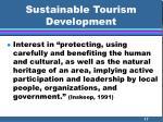 sustainable tourism development17