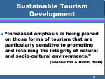 sustainable tourism development37