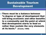 sustainable tourism development38