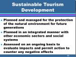 sustainable tourism development53