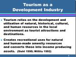 tourism as a development industry