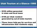 utah tourism at a glance 19996