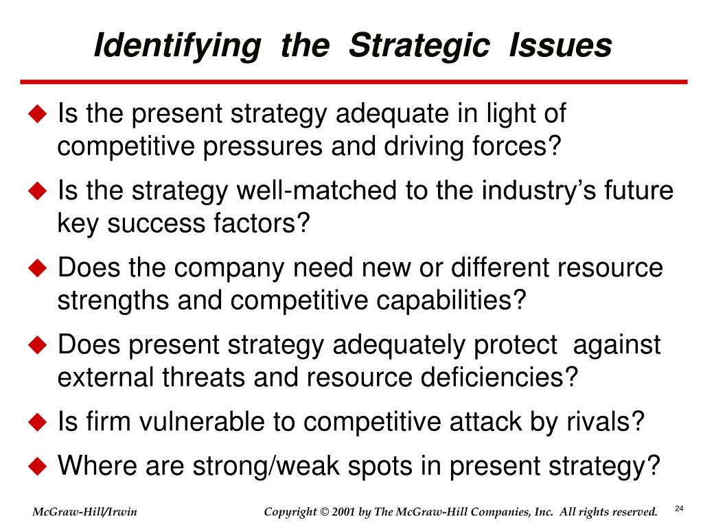 Identifying  the  Strategic  Issues