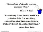 understand what really makes a company tick
