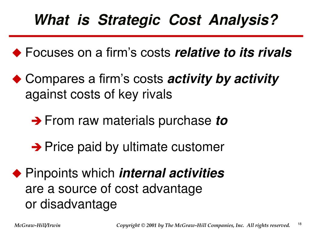 What  is  Strategic  Cost  Analysis?