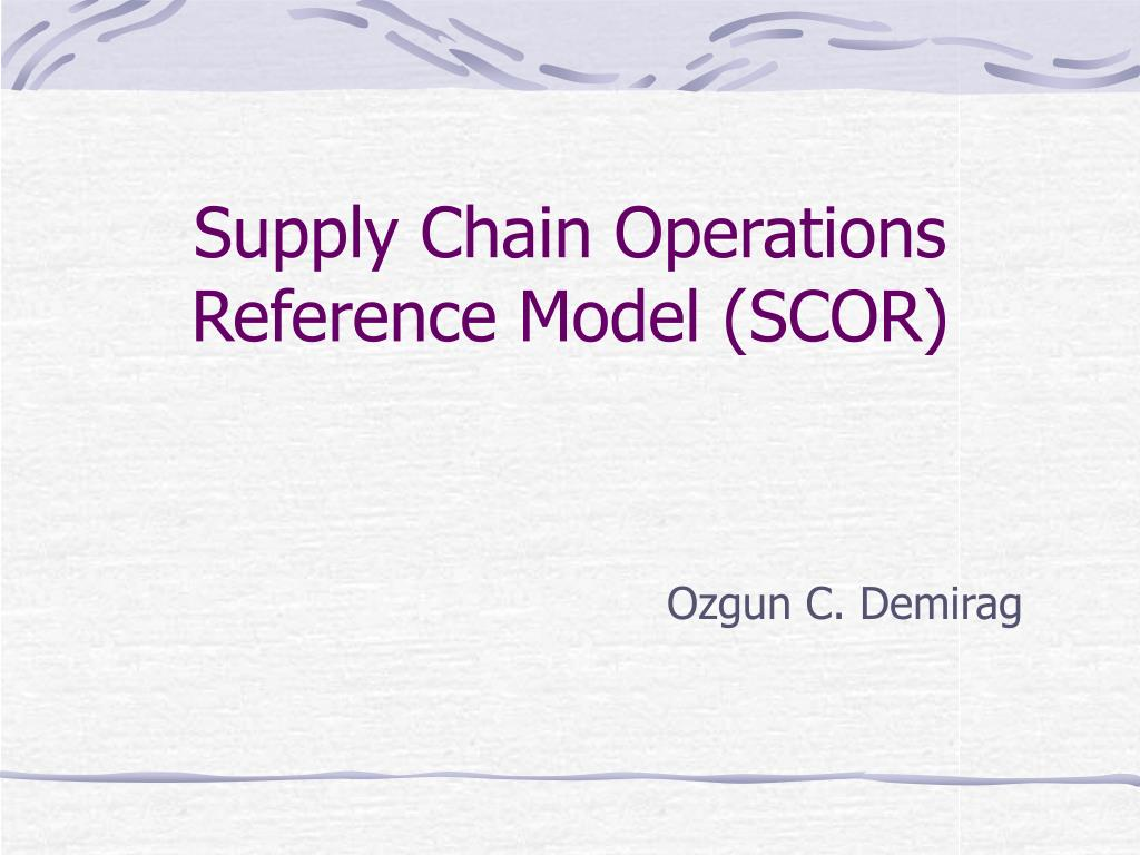 supply chain operations reference model scor l.