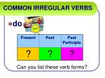 common irregular verbs12