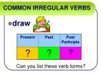 common irregular verbs14