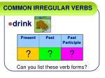 common irregular verbs16