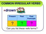 common irregular verbs18