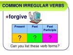 common irregular verbs28