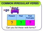 common irregular verbs32